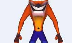 The Crash Bandicoot in game model