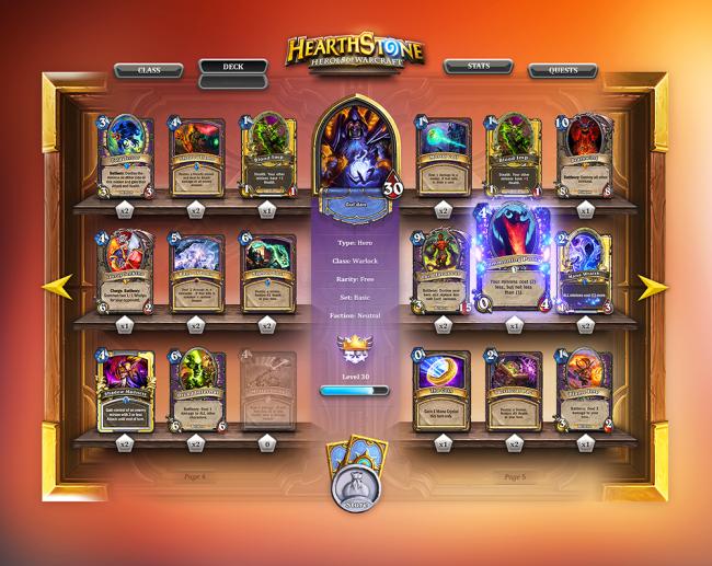 Warlock class specific cards. You face Jaraxxus, Eredar lord of the Burning Legion!
