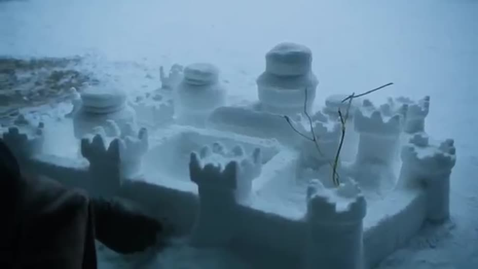 And I build a mean snow castle