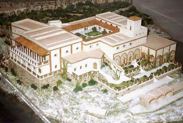 A typical large scale Roman villa, certainly an influence on the later Basilica